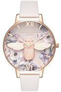 Olivia Burton - Women's Watercolour Florals Rose Gold & Blush Watch - Multicolour Off white (Not Mapped)