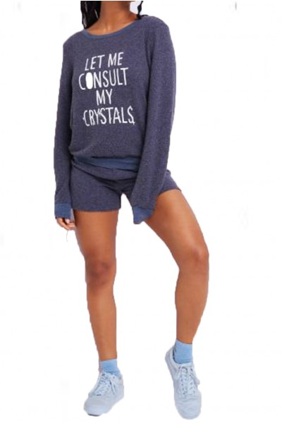 Wildfox - Women's Consult My Crystals Baggy Beach Jumper - Oxford