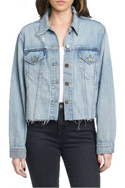 Pistola - Women's Naya Crop Boy Friend Fit Denim Jacket - Vibes