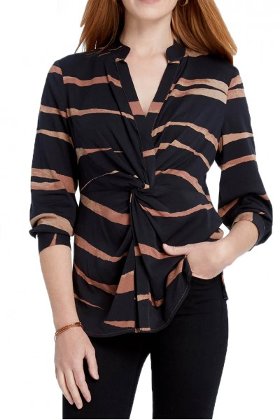 Nic+Zoe - Women's Abstract Animal Top - Multi