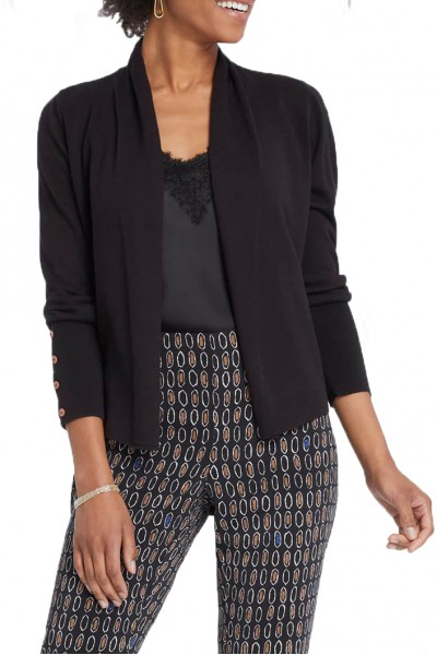 Nic+Zoe - Women's Book Club Cardy - Black Onyx