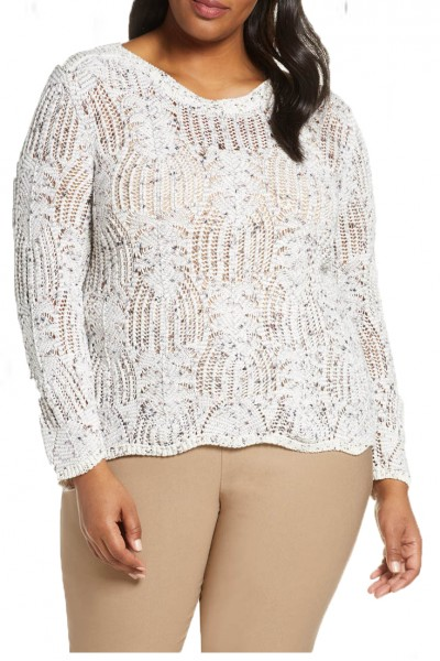 Nic+Zoe - Women's In Stitches Top - Milk White Mix