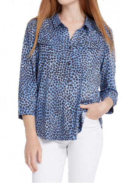 Nic+Zoe - Women's Leopard Dot Top - Multi