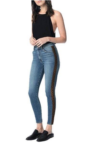 Joe's - Women's Charlie Ankle Leopard Stripe Jean - Ivey