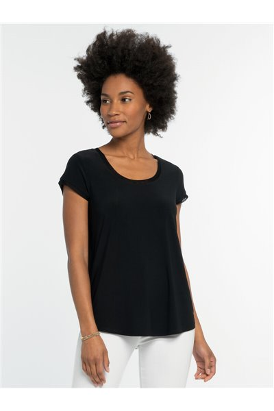 Nic+Zoe - HIGH TWIST TEE - Black Onyx