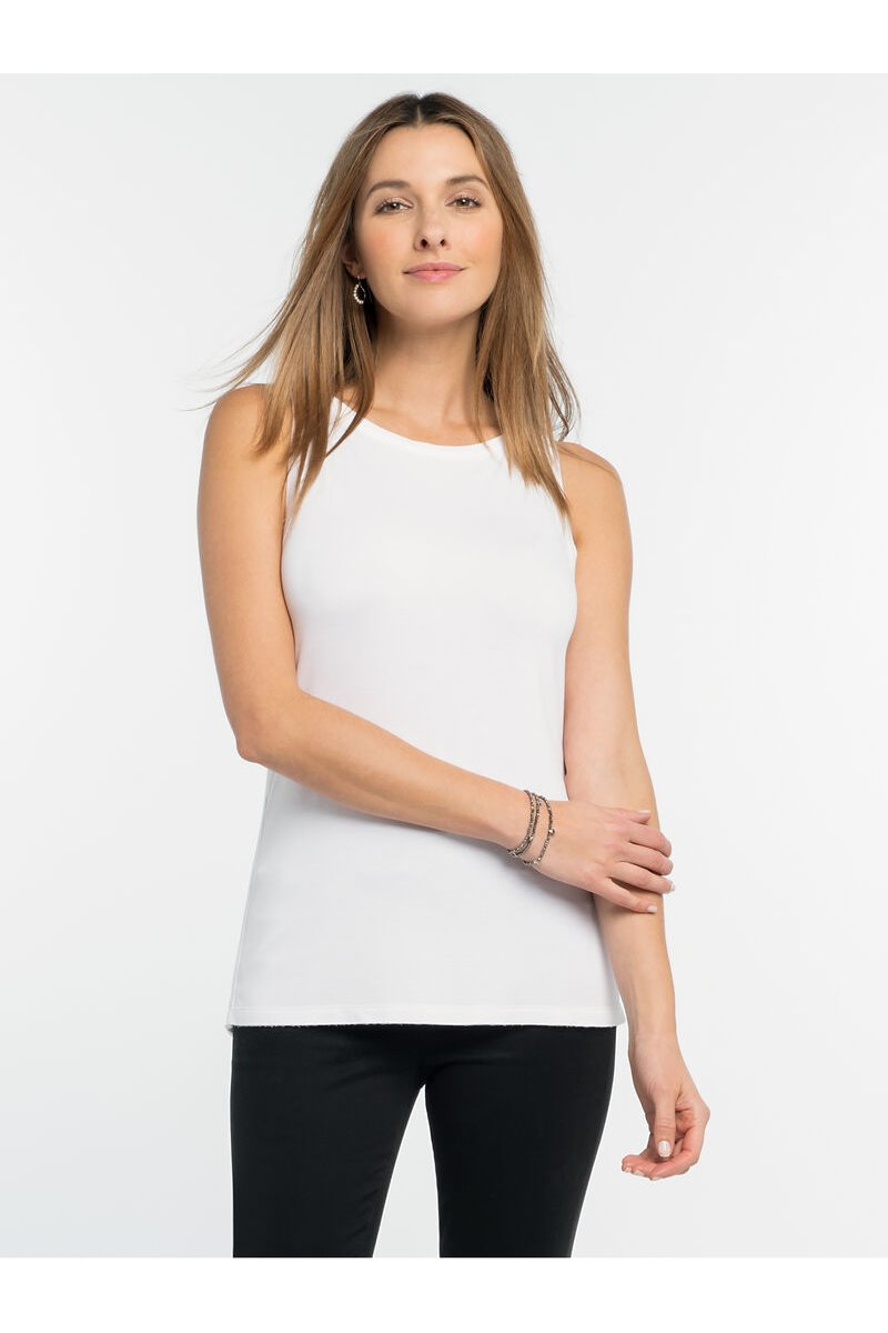 Nic+Zoe - IN THE MOMENT TANK - Paper White