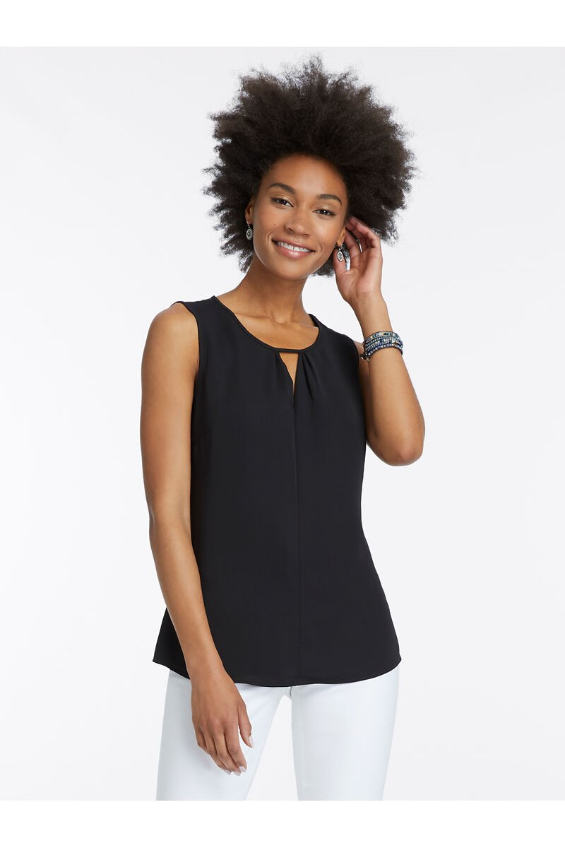 Nic+Zoe - Easy Keyhole Top - Black Onyx