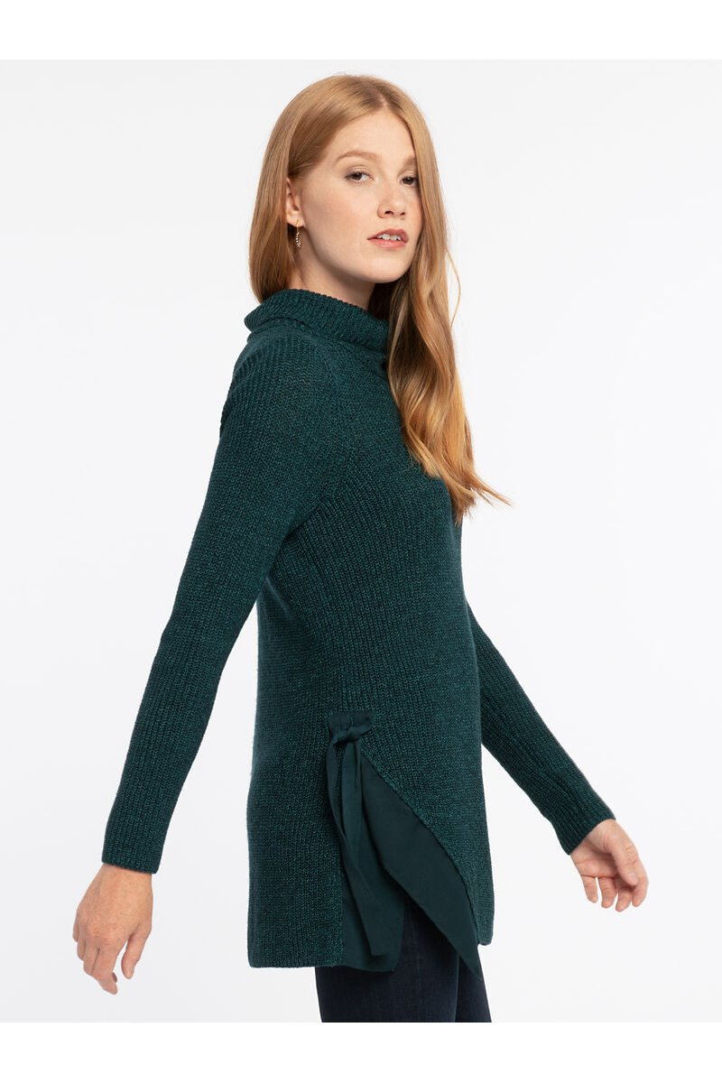 Nic+Zoe - WEST SIDE SWEATER - WASHED SLATE MIX