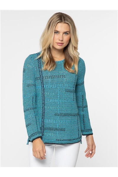 Nic+Zoe - NATURAL INSTINCT JACQUARD TOP - Multi