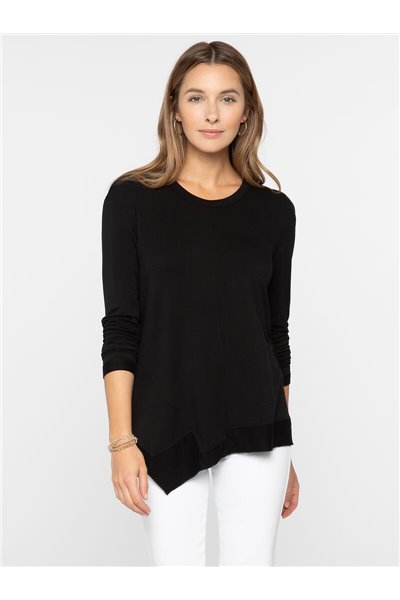 Nic+Zoe - SOFT ANGLE TOP - Black Onyx
