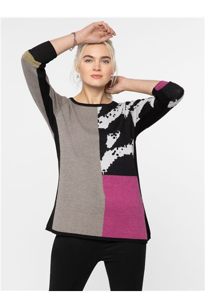 Nic+Zoe - BLOCK IT OFF SWEATER - Multi