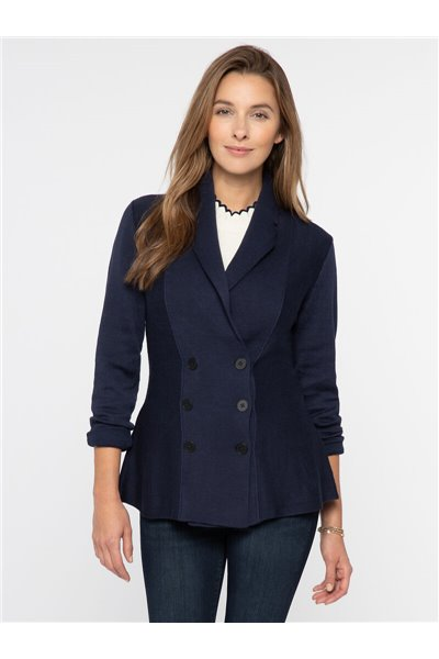 Nic+Zoe - FRAME OF MIND JACKET - Dark Indigo
