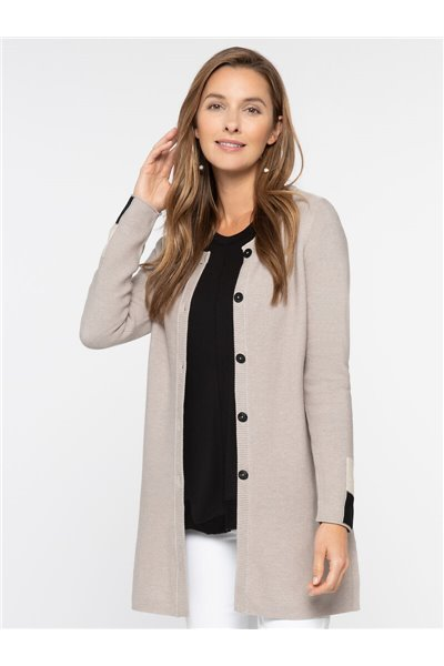 Nic+Zoe - COLOR BLOCK SLEEVE CARDIGAN - Dark Indigo