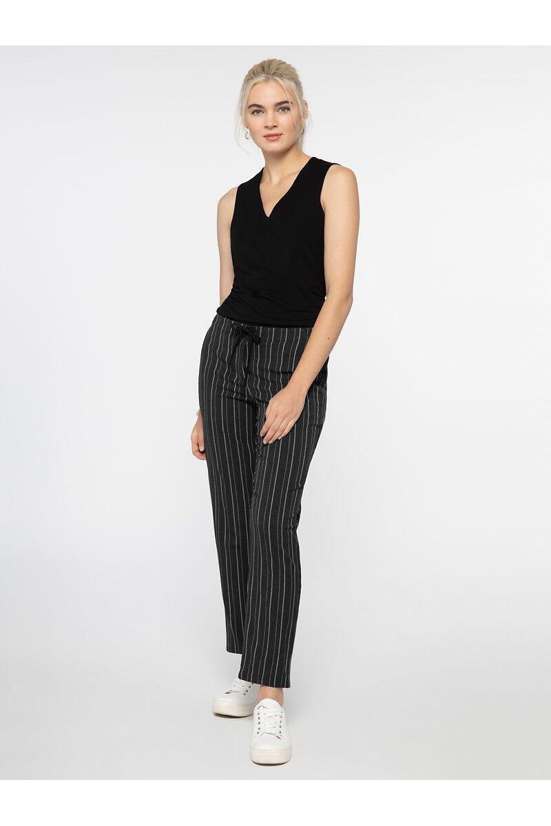 Nic+Zoe - FINISH LINE PANT - Black Multi