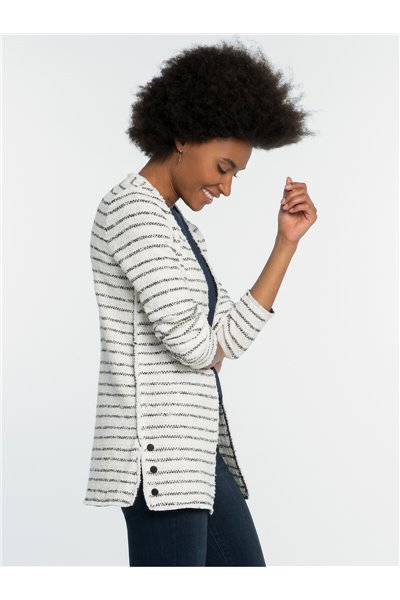Nic+Zoe - ATLAS STRIPE JACKET - Indigo Multi