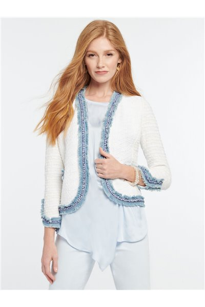 Nic+Zoe - BRIGHT SIDE JACKET - White Multi