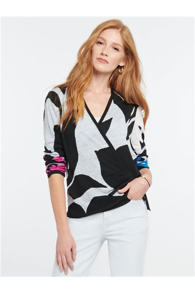 Nic+Zoe - NEW ADVENTURES SWEATER - Black Multi