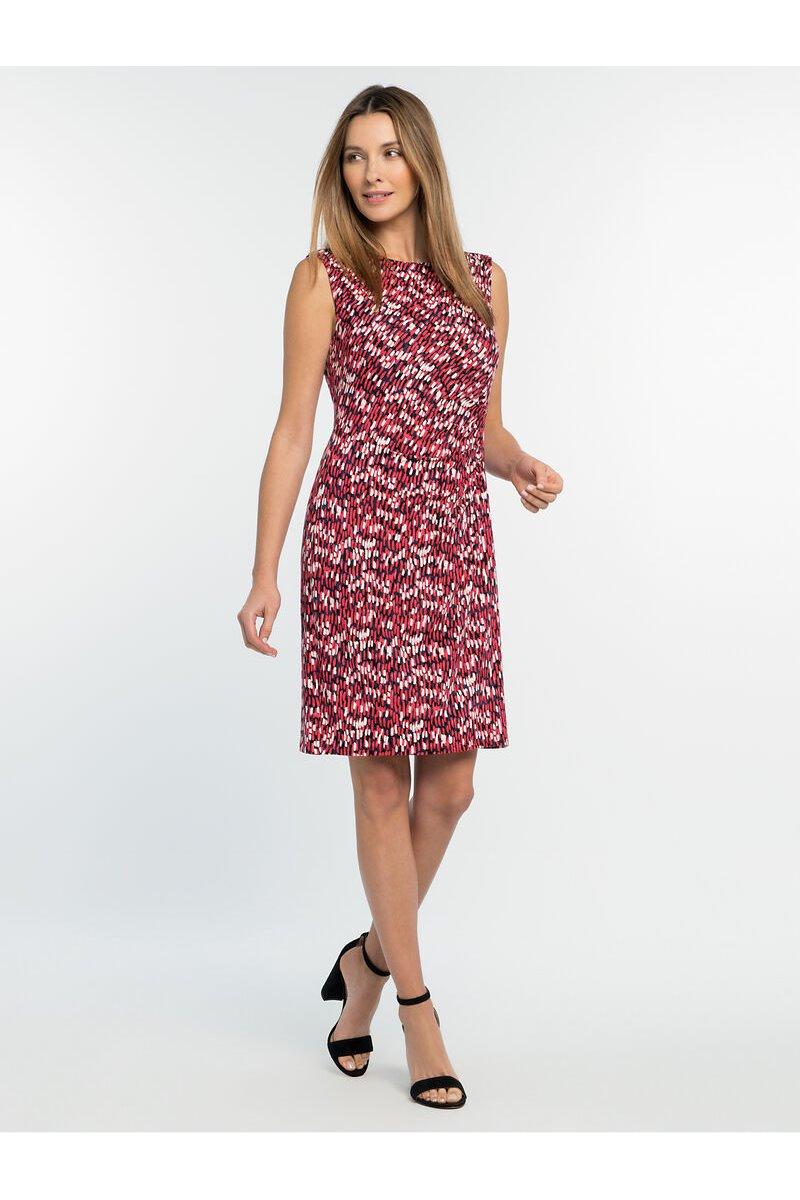 Nic+Zoe - BRIGHT BURST TWIST DRESS - Pink Multi
