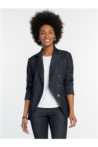 Nic+Zoe - ALL DAY DENIM JACKET - MIDNIGHT WASH
