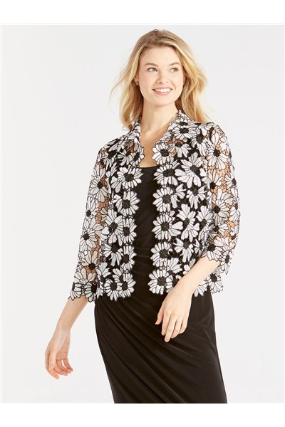 Nic+Zoe - COSMOS LACE JACKET - Black Multi