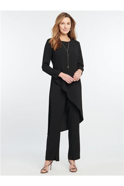 Nic+Zoe - DRAMA TUNIC TOP - Black Onyx