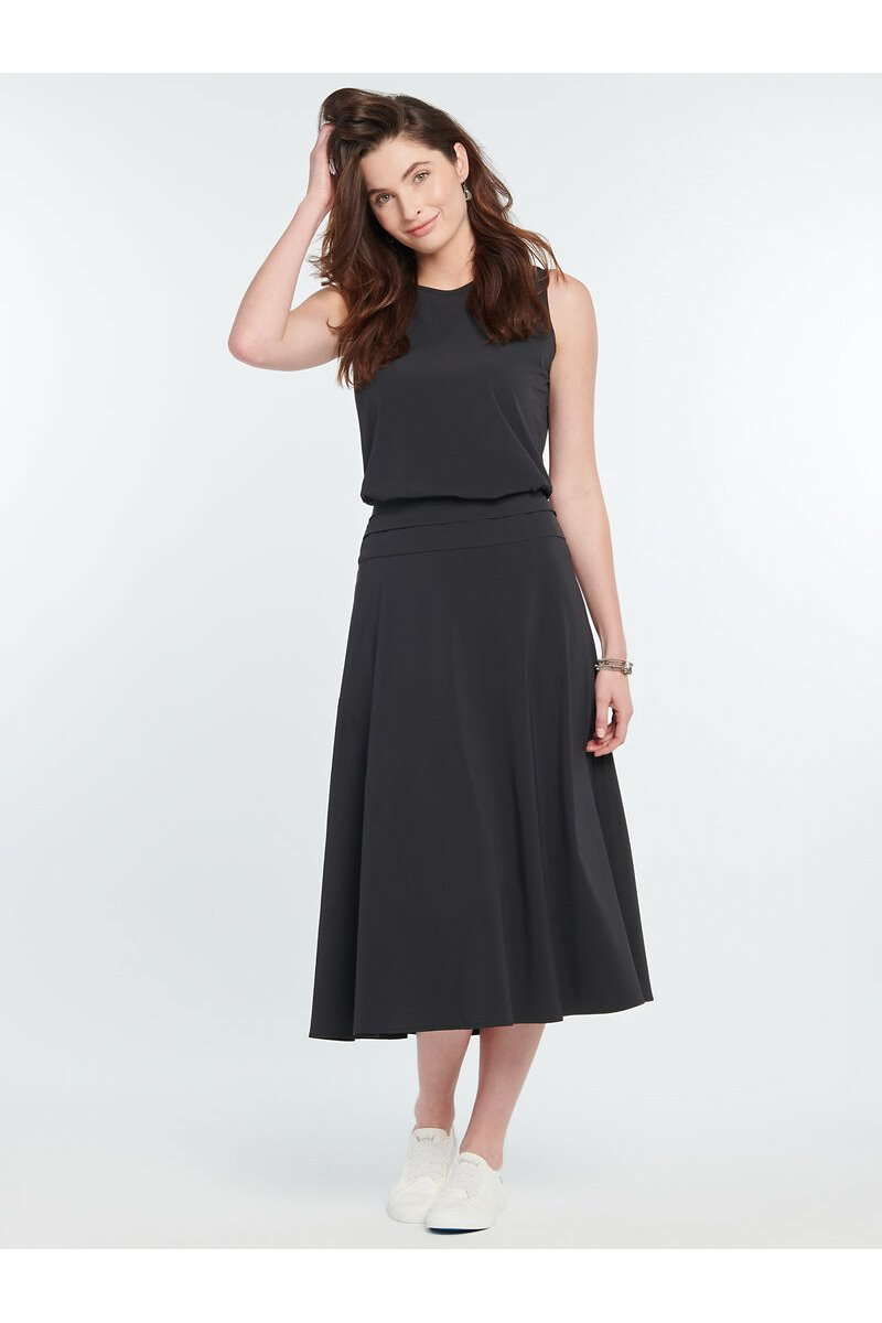 Nic+Zoe - TECH STRETCH SKIRT - Black Onyx