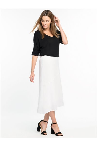 Nic+Zoe - IN SEASON LINEN SKIRT - Black Onyx