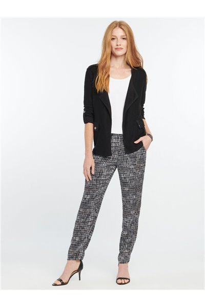 Nic+Zoe - DOTTED LINES PANT - Black Multi