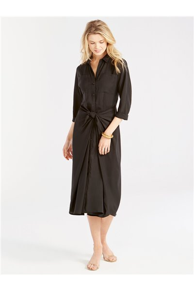 Nic+Zoe - PICNIC SHIRT DRESS - Black Onyx