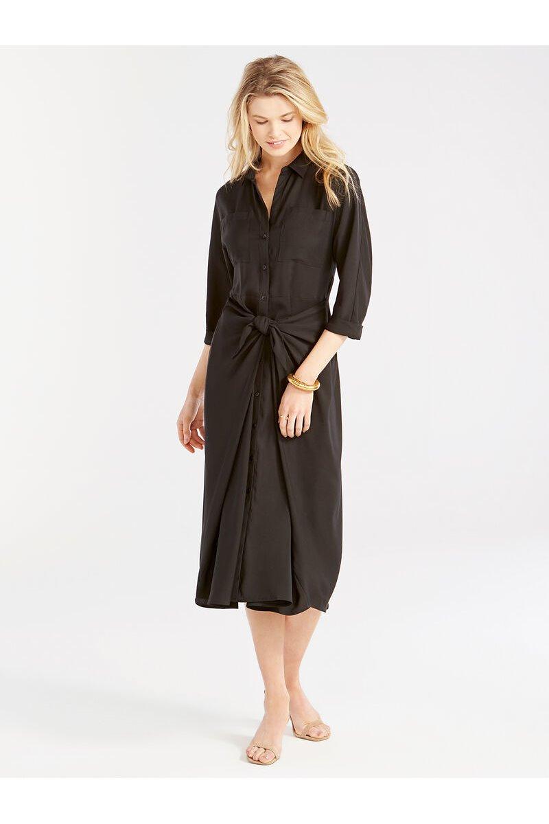 Nic+Zoe - PICNIC SHIRT DRESS - Black Onyx