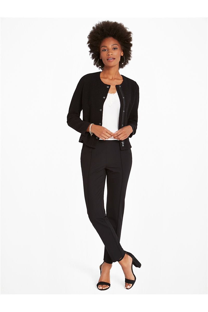 Nic+Zoe - LEAD THE WAY PONTE PANT - Black Onyx