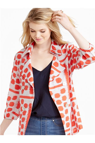 Nic+Zoe - CONNECT FOUR JACKET - Red Multi
