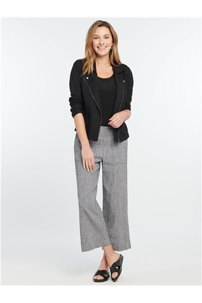 Nic+Zoe - HERE OR THERE CROP PANT - Black Mix