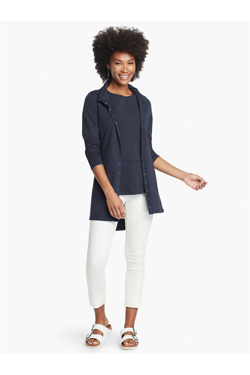 Nic+Zoe - PERFECT THROW ON JACKET - Dark Indigo