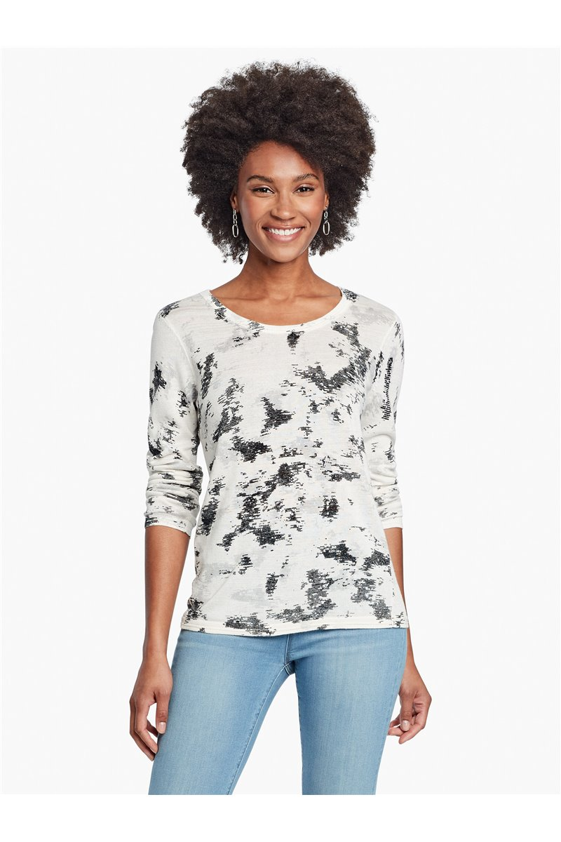 Nic+Zoe - STRATUS SWEATER - NEUTRAL MULTI