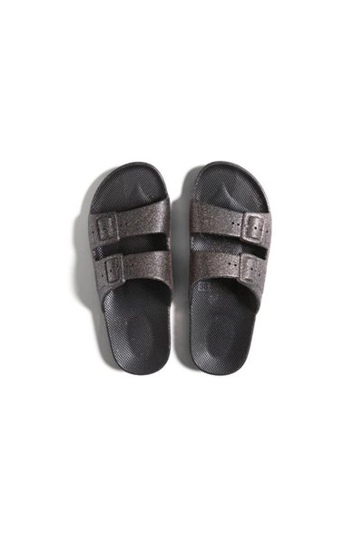 Moses - Adult Freedom Slipper Sandals - CELESTE BLACK
