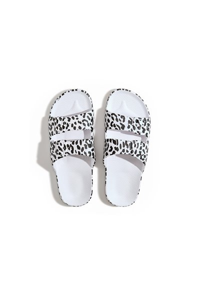 Moses - Adult Freedom Slipper Sandals - Leo WHITE