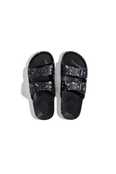 Moses - Adult Freedom Slipper Sandals - Terrazo BLACK
