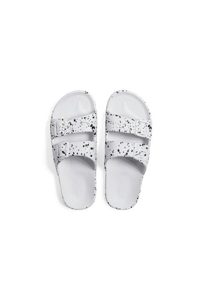 Moses - Adult Freedom Slipper Sandals - White Splatter