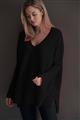 Brodie - MISS DARCEY 7GG LOOSE SWEATER - BLACK 010