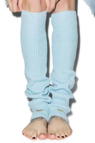 Wildfox - Knit Legwarmers - Blue