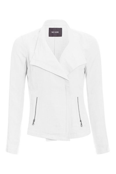Nic+Zoe - Sundown Moto Jacket - Paper White