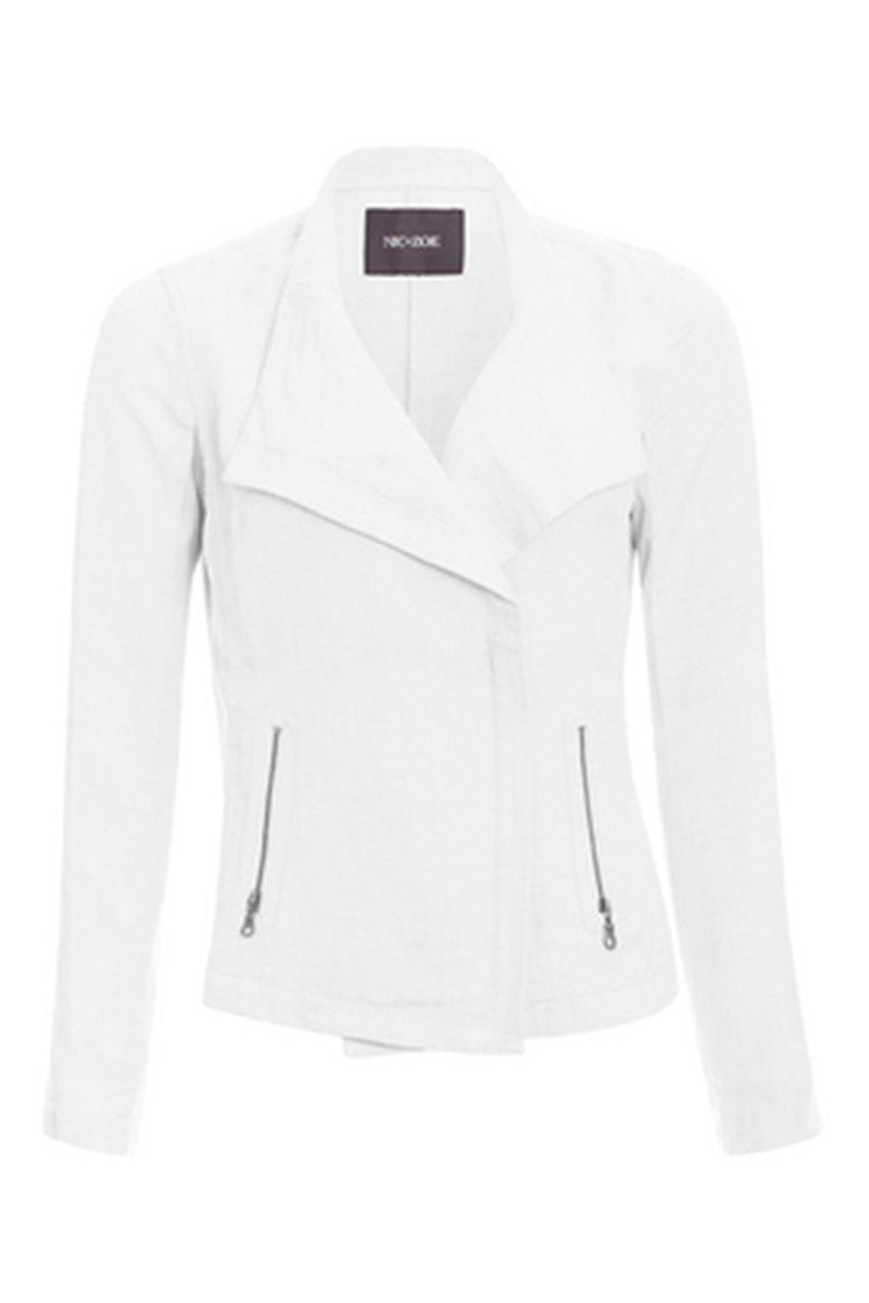 Nic+Zoe - Sundown Moto Jacket - Paper White