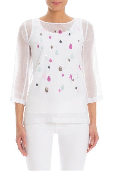 Nic+Zoe - April Showers Top - Paper White