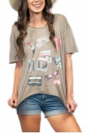 Wildfox - Empty Your Pockets Overland Tunic - Grey
