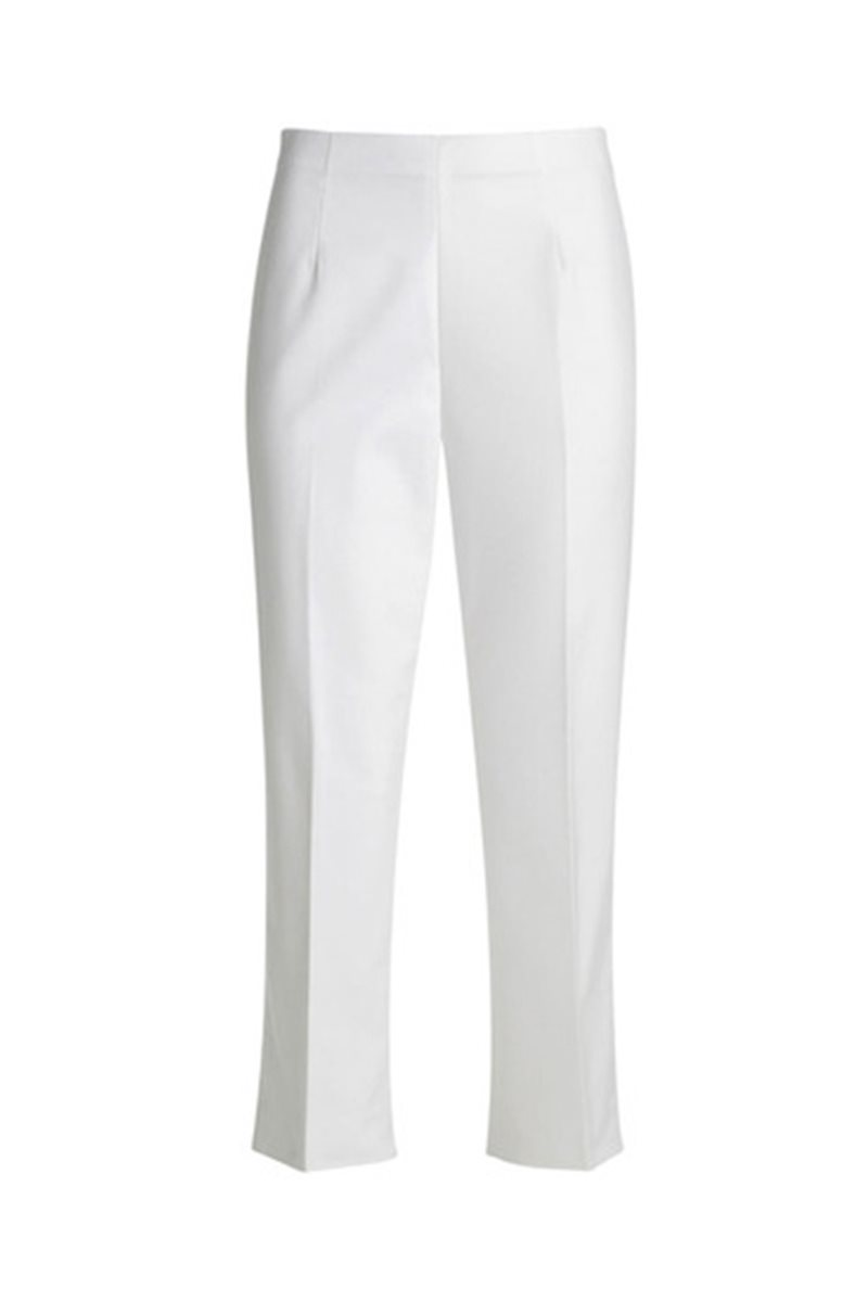bc59ea27daa198 Nic+Zoe - Perfect Pant Side Zip Crop - Paper White